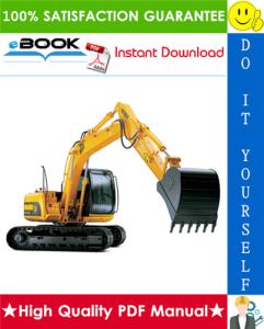 jcb js130, js160, js180 tracked excavators service repair manual