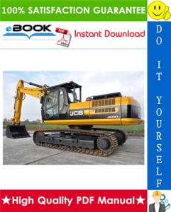 jcb js330, js450, js460 tracked excavators service repair manual