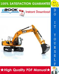 jcb js160, js180, js190 auto tier 3 tracked excavators service repair manual