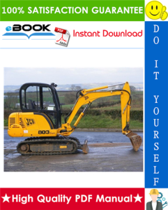 JCB 802.7, 803, 804 Mini Crawler Excavator Service Repair Manual | eBooks | Technical