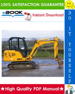 jcb 802.7, 803, 804 mini crawler excavator service repair manual