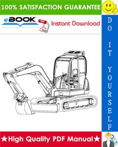 jcb 8056 mini crawler excavator service repair manual