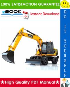 JCB JS145W, JS165W Wheeled Excavator Service Repair Manual | eBooks | Technical