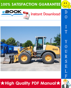 liebherr l512, l514 stereo wheel loader service repair manual