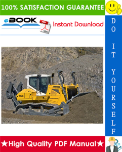 liebherr pr746 - 1293, pr746 - 1294 crawler dozer service repair manual