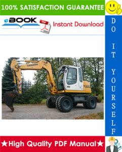 liebherr a309, a311, a312, r313, a314, a316, r317 litronic wheel excavator service repair manual