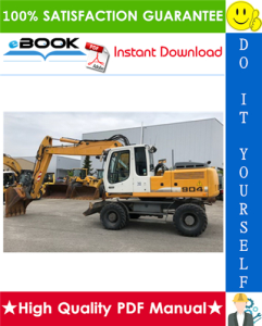 Liebherr A900B, A904, A914, A914B, A924, A924B Litronic Wheel Excavator Service Repair Manual | eBooks | Technical