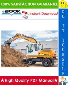 liebherr a900c, a904c litronic hydraulic excavator service repair manual