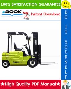 Clark GEX20, GEX25, GEX30S, GEX30, GEX32 Forklift Trucks Service Repair Manual | eBooks | Technical