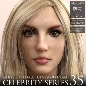 Celebrity Series 35 for Genesis 3 and Genesis 8 Female | Software | Design