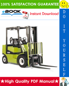 Clark CGP16, CGP18, CGP20, CDP16, CDP18, CDP20 Forklift Trucks Service Repair Manual | eBooks | Technical