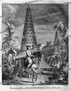 pyramid filled with decapitated heads near astrabad (gorgan), persia, jonas hanway, 1754