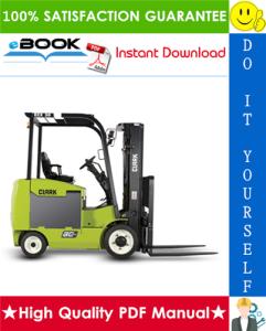 Clark ECX20, EPX20, ECX25, EPX25, ECX30, EPX30, ECX30x, ECX32 Forklift Trucks Service Repair Manual | eBooks | Technical