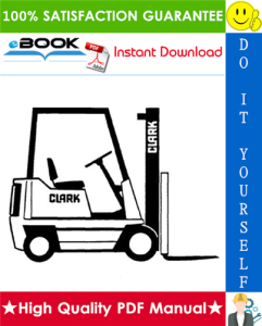clark ptt 5/7 forklift service & adjustment manual