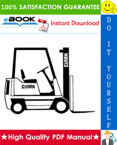 Clark OP7 Forklift Service & Adjustment Manual | eBooks | Technical
