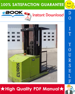 Clark OP15 Forklift Service Repair Manual | eBooks | Technical