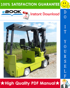 clark ec500-60, ec500-70, ec500-80 forklift trucks service repair manual