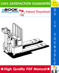 Clark WP 40 Electric Pallet Jack Service Repair Manual | eBooks | Technical