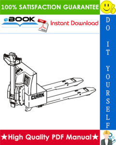 Clark WP45 Electric Pallet Jack Service Repair Manual | eBooks | Technical