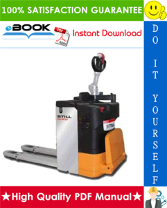 Still ECU-SF Low lift pallet truck Service Repair Manual | eBooks | Technical