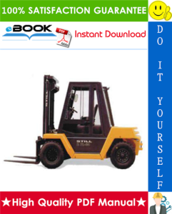 still r70-60, r70-70, r70-80 series dfg r7087, r7088, r7089 diesel fork truck service repair manual