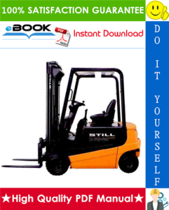 Still R60-16, R60-18, R60-20 Electric Fork Truck Service Repair Manual | eBooks | Technical
