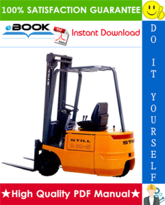 Still R50-10, R50-12, R50-15 Electronic Forklift Trucks Service Repair Manual | eBooks | Technical