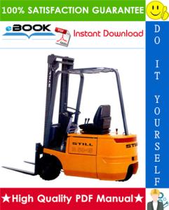 still r50-10, r50-12, r50-15 electronic forklift trucks service repair manual
