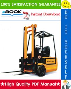 Still R20-15, R20-16, R20-17, R20-20 Electric Fork Truck Service Repair Manual | eBooks | Technical