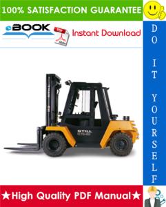 Still R70-60, R70-70, R70-80 Diesel Forklift Truck Service Repair Manual | eBooks | Technical