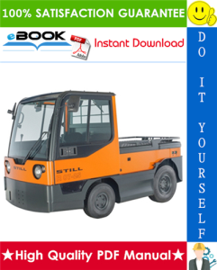 still r07, r08 electric tow tractor service repair manual