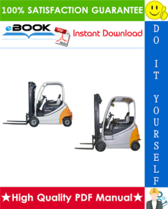 Still RX20-14, RX20-15, RX20-16, RX20-18, RX20-20 RX60-16, RX60-18, RX60-20 Electric Forklift Trucks Service Repair Manual | eBooks | Technical