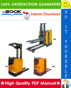 Still SU, SD, SV Stand-on low lift truck Service Repair Manual | eBooks | Technical