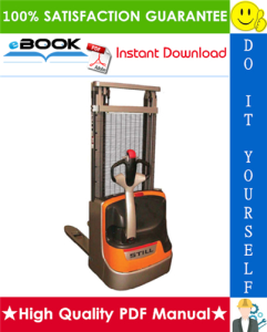 Still EXV-10 Basic, EXV-10, EXV-12, EXV-12 Li Electric Pallet Stacker In Pedestrian Mode Service Repair Manual | eBooks | Technical