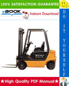 Still R70-16, R70-18, R70-20 Compact LPG/Diesel Fork Truck Service Repair Manual | eBooks | Technical