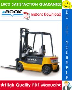 Still R20-15, R20-16, R20-18, R20-20 Electric Fork Truck Service Repair Manual | eBooks | Technical