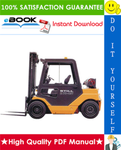 Still R70-35T, R70-40T, R70-45T LPG Fork Truck Service Repair Manual | eBooks | Technical