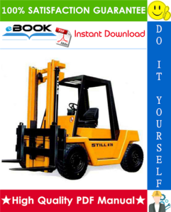 Still R70-60, R70-70, R70-80 Diesel Fork Truck Service Repair Manual | eBooks | Technical