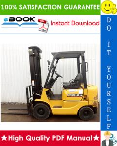 caterpillar cat dp15k ac, dp18k ac lift trucks service repair manual