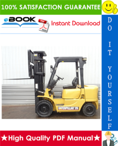 caterpillar cat dp20k ac, dp25k ac, dp30k ac, dp35k ac lift trucks chassis & mast service repair manual