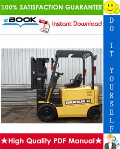 caterpillar cat ep20k, ep25k, ep30k, ep35k lift trucks chassis, mast & options service repair manual