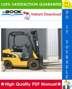 Caterpillar Cat DP15N, DP18N, DP20CN Lift Trucks Service Repair Manual | eBooks | Technical