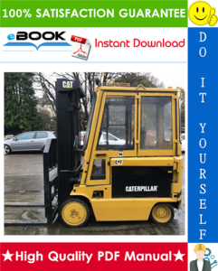 caterpillar cat m70d, m80d, m100d, m120d electric lift trucks service repair manual