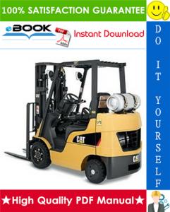 caterpillar cat gpe15zn, gpe18zn lift trucks service repair manual