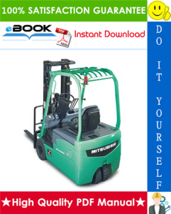 mitsubishi fb16nt, fb18nt, fb20nt forklift trucks service repair manual