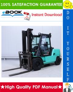 mitsubishi fd40k, fd45k, fd50k, fd40kl forklift trucks service repair manual