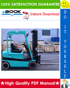 mitsubishi fb16k, fb18k, fb20kc forklift trucks service repair manual