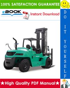 mitsubishi fd100, fd115, fd135, fd150a forklift trucks service repair manual