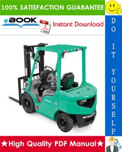mitsubishi fd10, fd14, fd15, fd18, fd20, fd25, fd30, fd35a forklift trucks service repair manual