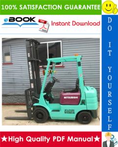 mitsubishi fg10, fg14, fg15, fg18 forklift trucks service repair manual